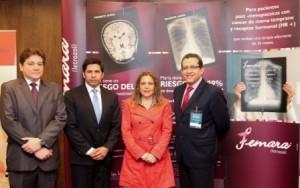 José La Rosa (Coordinador General), Ricardo Montejo (Coordinador Perú-Ecuador), Jessica Calvo (Representante Médica) y Henry Gómez (especialista en Oncología).