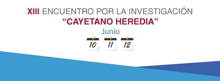 """Encuentro por la Investigación """"Cayetano Heredia"""""""