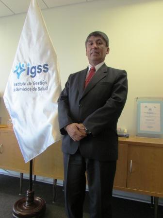 DOCTOR EDWAR CRUZ JEFE DEL INSTITUTO DE GESTIÓN DE SERVICIOS DE SALUD - IGSS